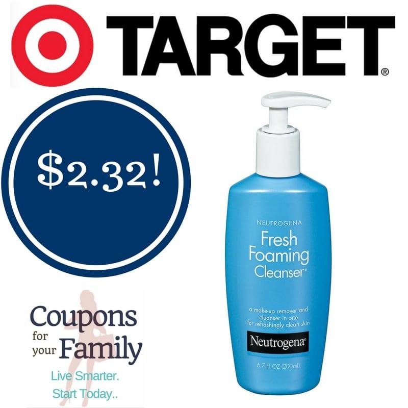 Target: Neutrogena Fresh Foaming Cleanser Only $2.32