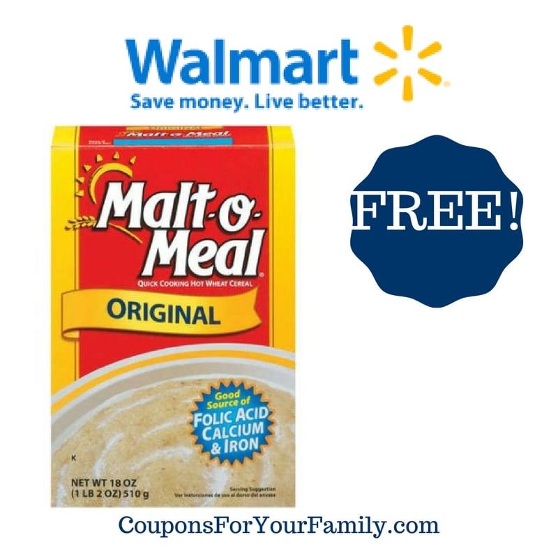 Walmart: FREE Malt O Meal Cereal