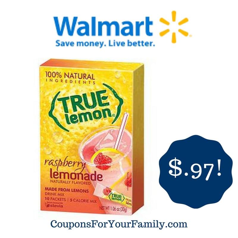 Walmart: True Lemon Drink Mix Only $0.97