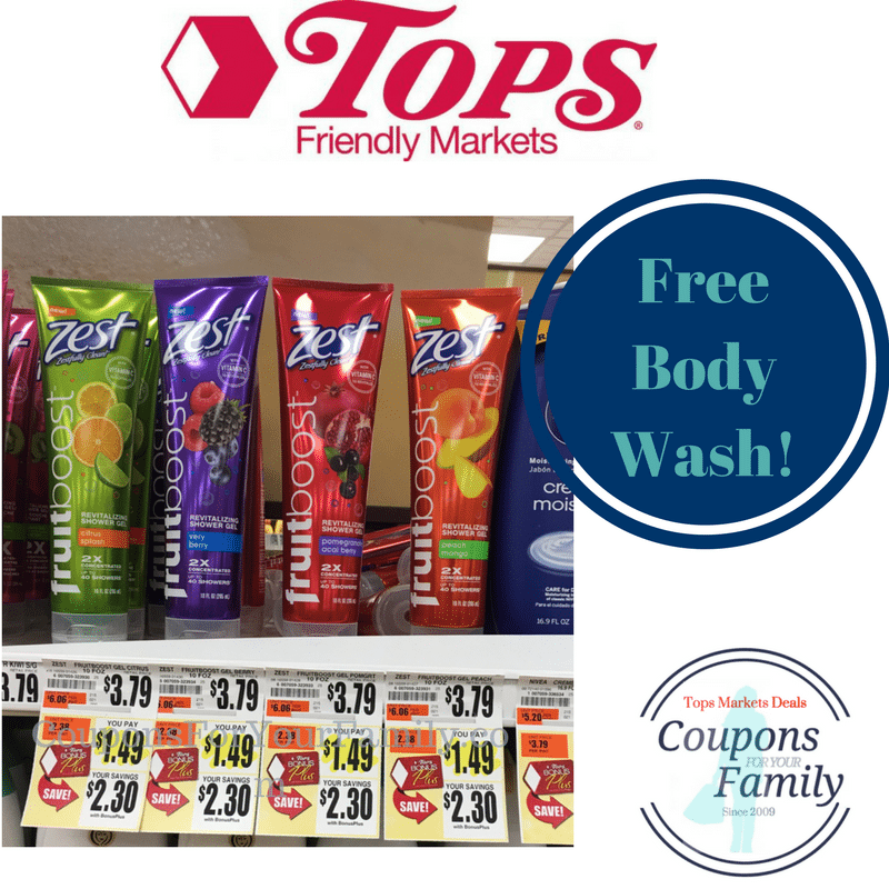 Free Zest Fruitboost Body Wash at Tops!!!