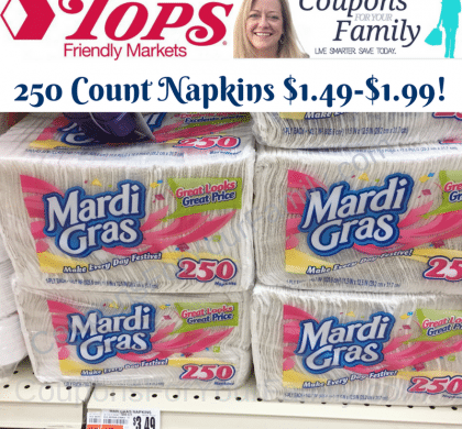 Mardi Gras coupon stacked with Cashback offer~~as low as $1.49 for 250 ct at Tops