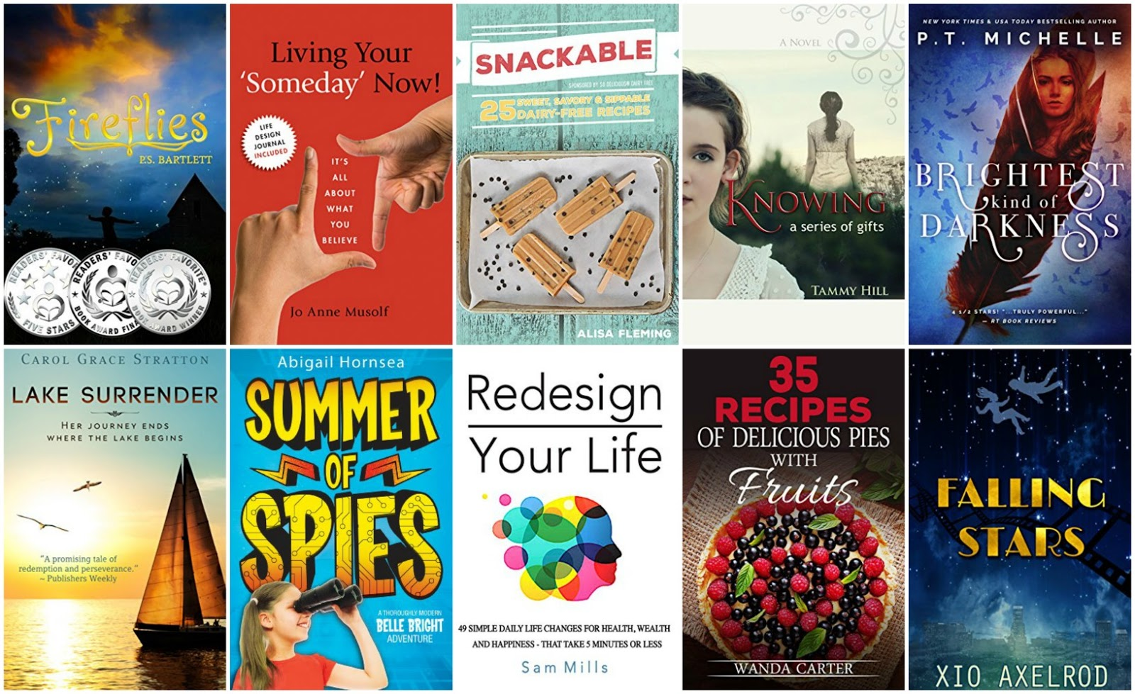 Todays Top 10 Free Ebooks July 12:  Redesign Your Life, Falling Stars, Brightest Kind of Darkness & more