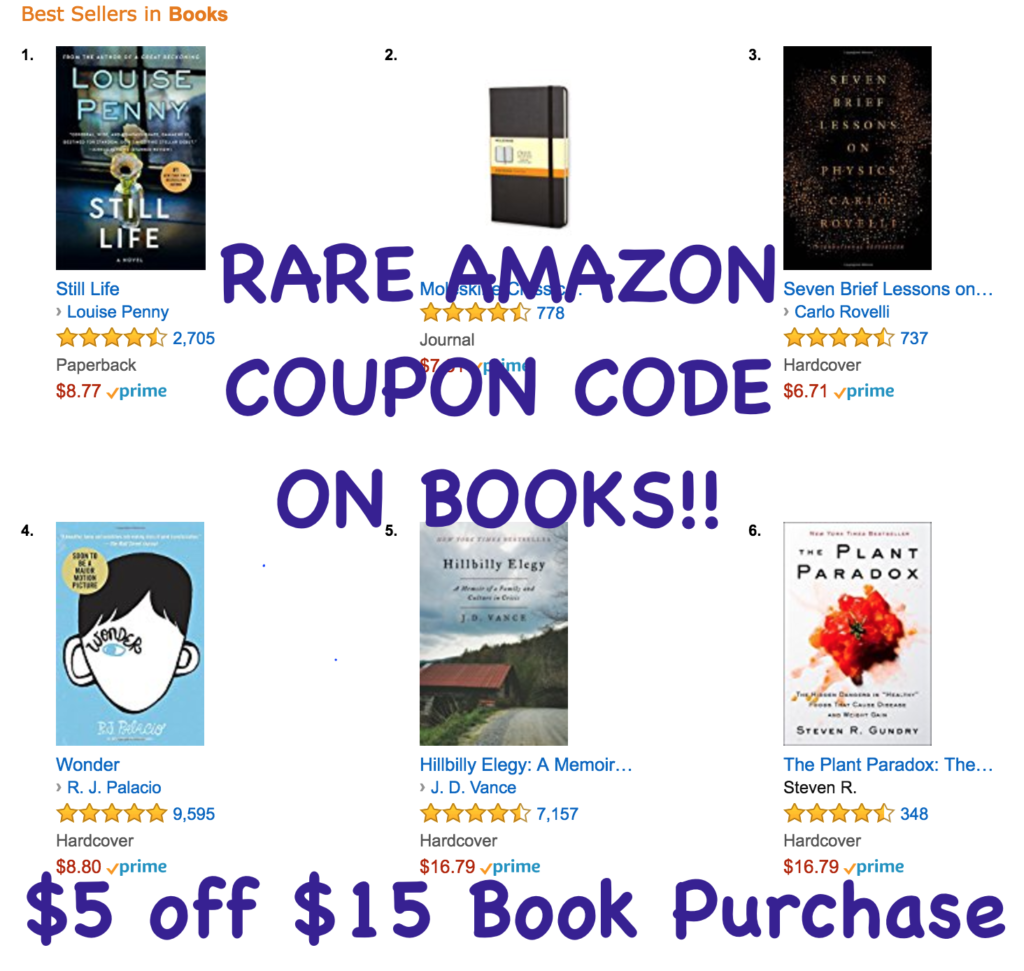 Amazon coupon code for books