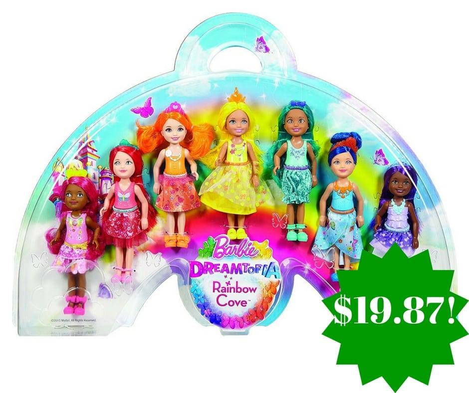 Amazon: Barbie Dreamtopia Rainbow Cove 7 Doll Gift Set Only $19.87 (Reg. $45)