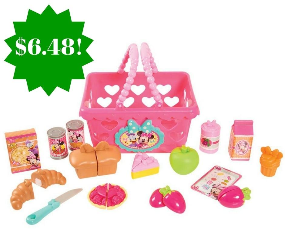 Amazon: Minnie Bowtastic Shopping Basket Set Only $6.48 (Reg. $18)