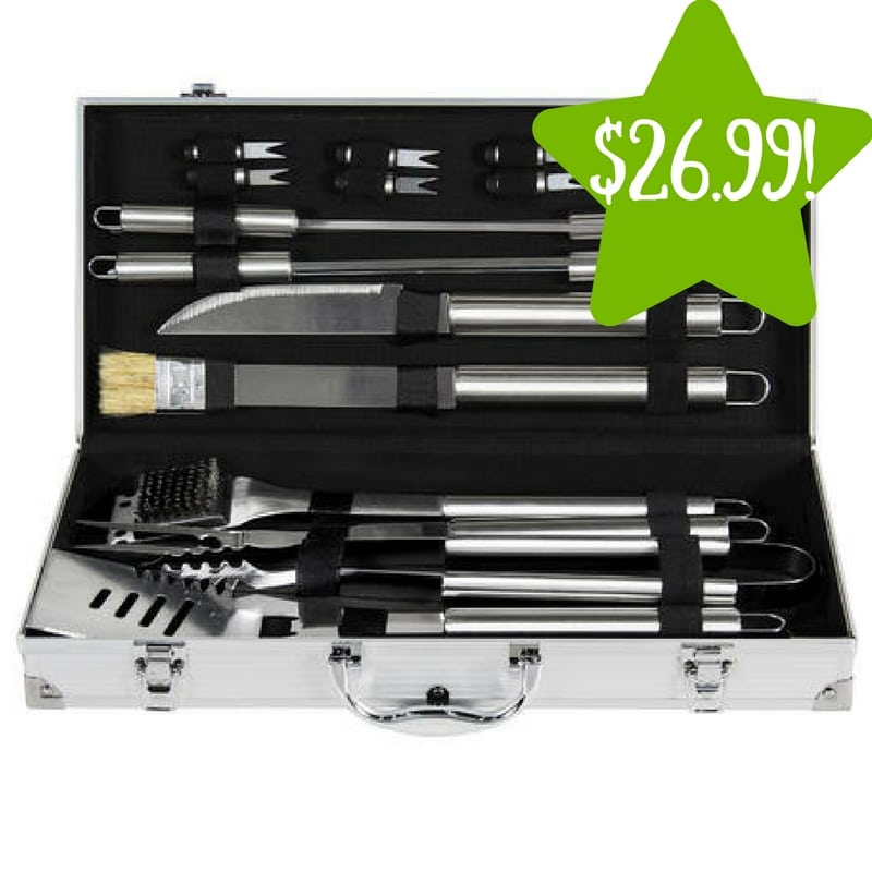Sears: 19pc Stainless Steel BBQ Grill Tool Set Only $26.99 (Reg. $80)