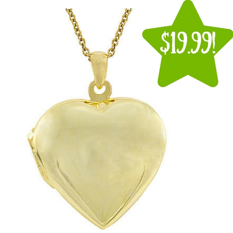 Kmart: Gold over Sterling Silver Polished Heart Locket Pendant Only $19.99 (Reg. $110, Today Only)