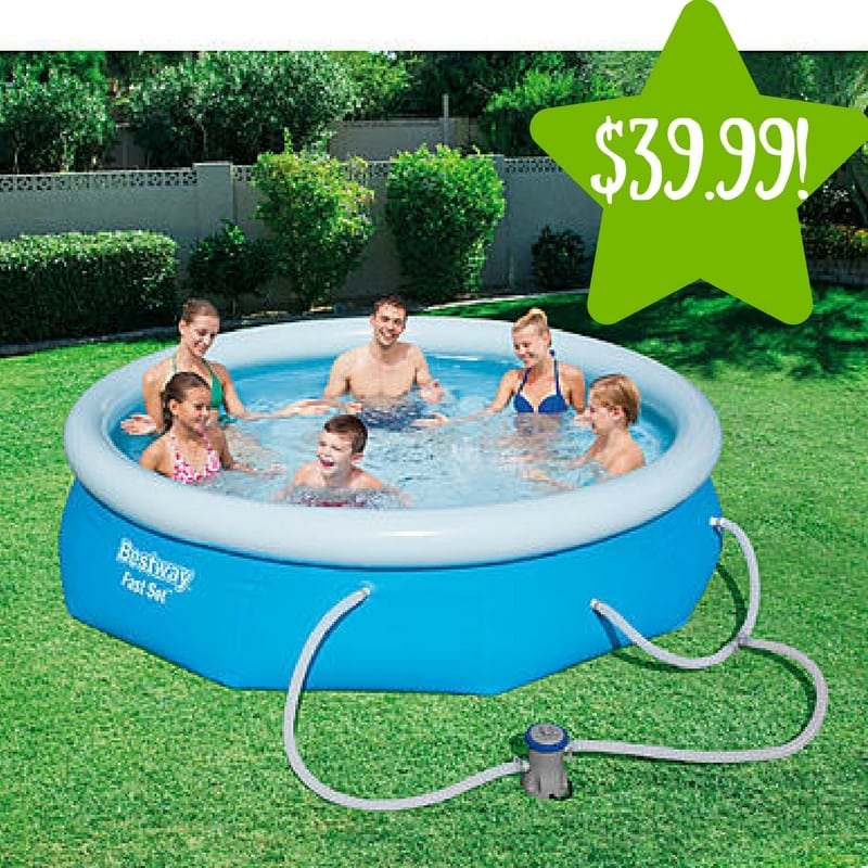"Kmart: Bestway 10' x 30"" Inflatable Fast Set Pool Kit Only $39.99 (Reg. $100)"