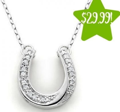 Kmart: Sterling Silver 1/10Cttw Diamond Horseshoe Pendant Only $29.99 (Reg. $170, Today Only)