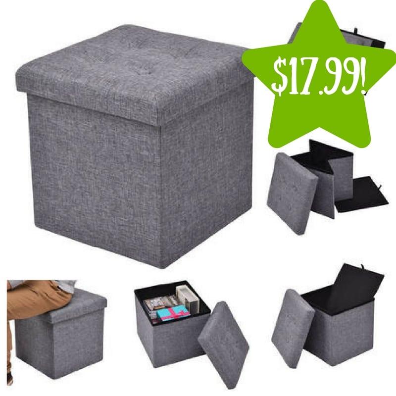 Sears: Costway Folding Storage Cube Ottoman Only $17.99 (Reg. $36)