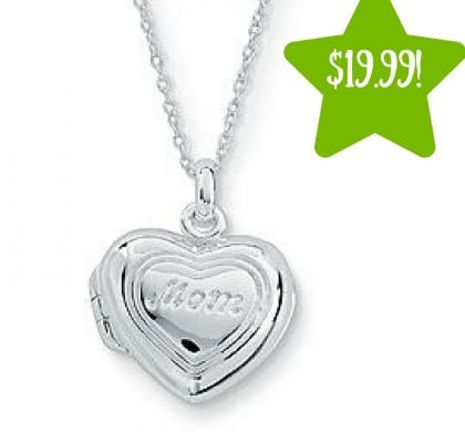 Kmart: Sterling Silver Mom Locket Only $19.99 (Reg. $100, Today Only)