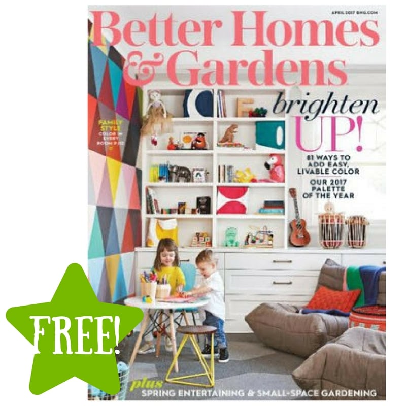 FREE Better Homes & Gardens Magazine Subscription (3 Offers)
