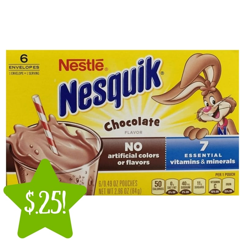 Dollar Tree: Nestle Nesquick Pouches Only $0.25
