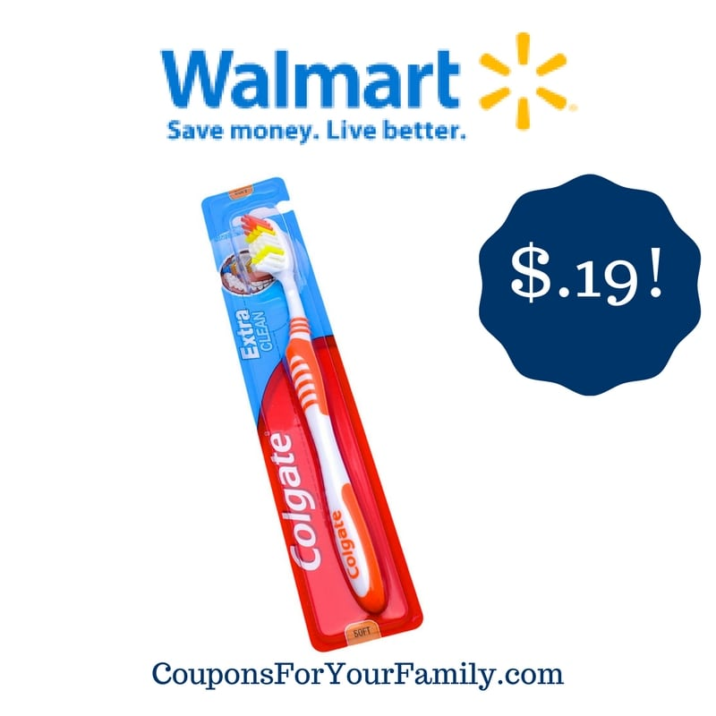 Walmart: Colgate Extra Clean Toothbrush Only $0.19