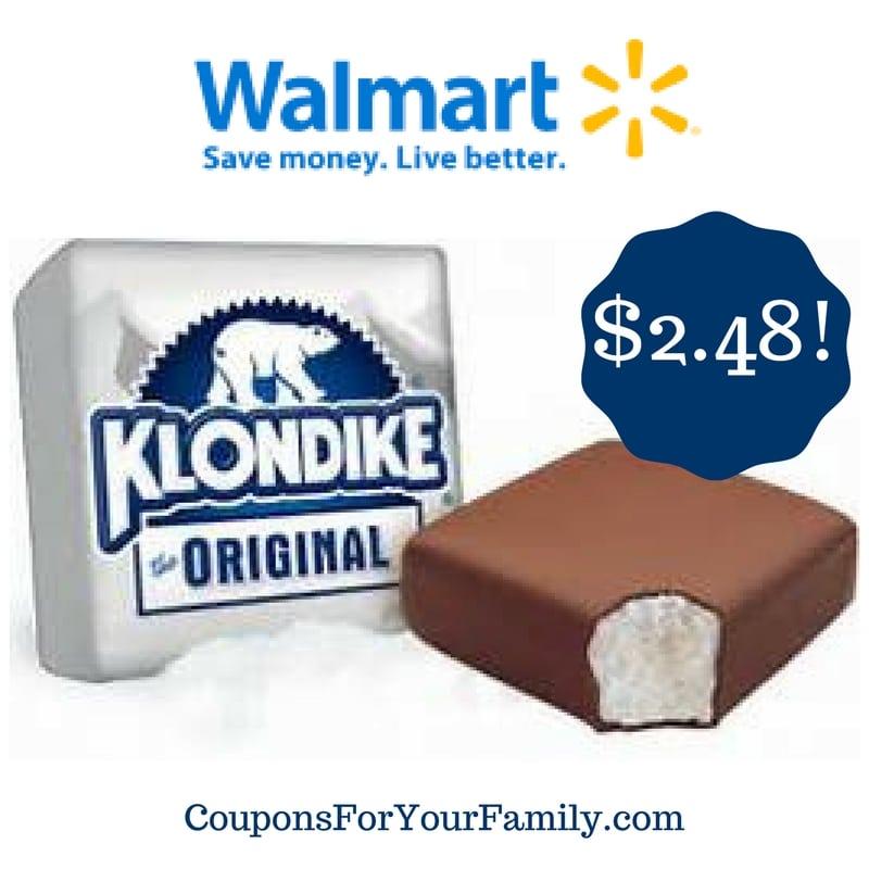 Walmart: Klondike Bars Only $2.48