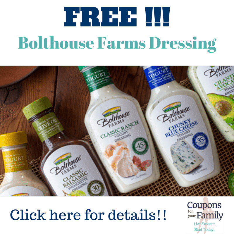 **HOT** Better than Free Bottle of Bolthouse Farms Salad Dressing at Target,Tops, Walmart or Wegmans!