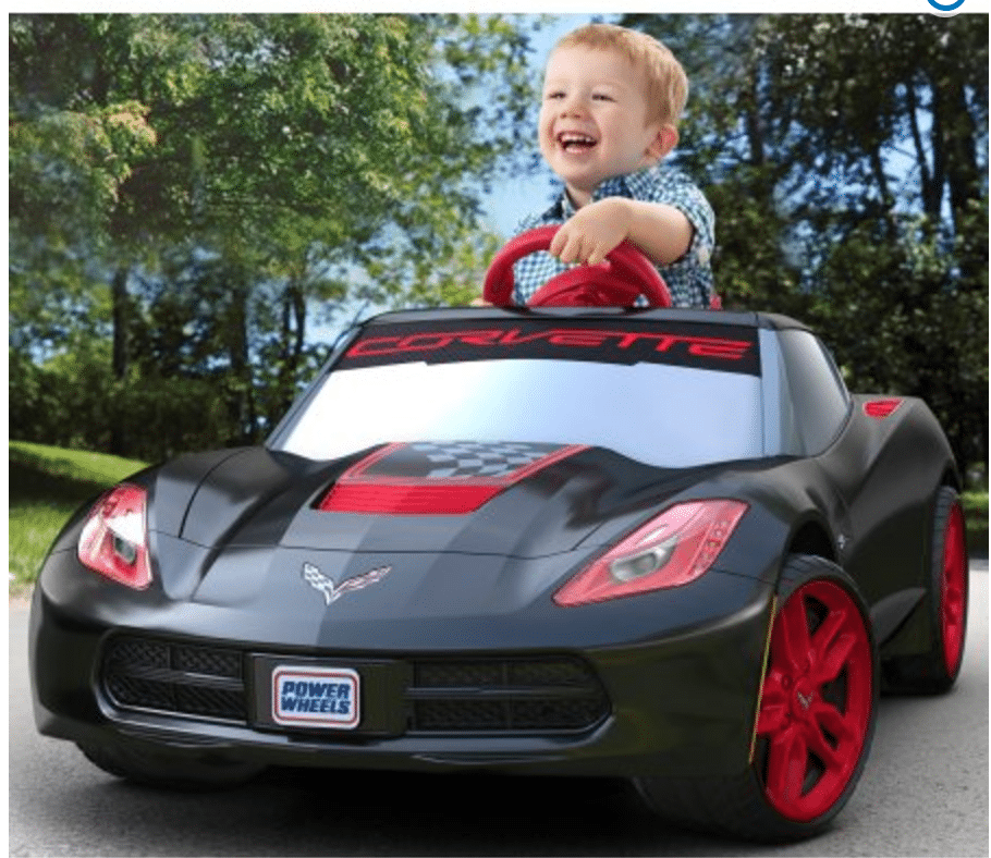 *HOT* Corvette Ride on Power Wheels 6v – Only $79 shipped!! {Reg $149}