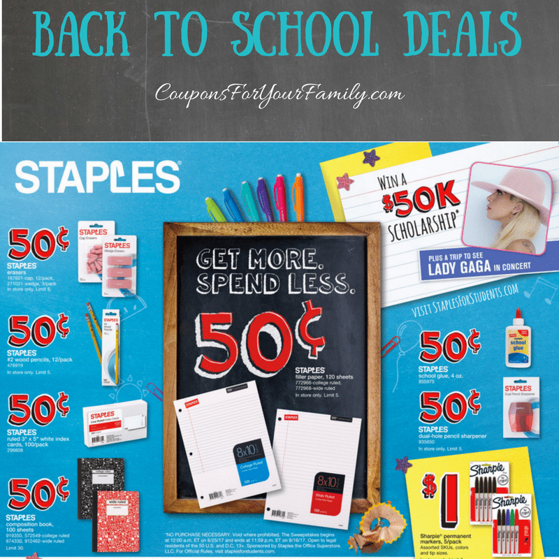 This Weeks Staples Back To School Deals July 23 29 22 Pens