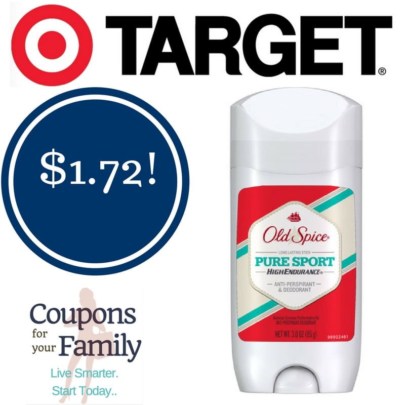 Target: Old Spice Deodorant Only $1.72