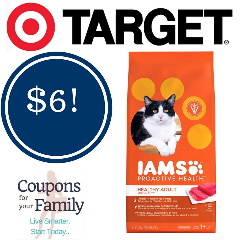 Target: Iams Proactive Health Dry Cat Food Only $6.00