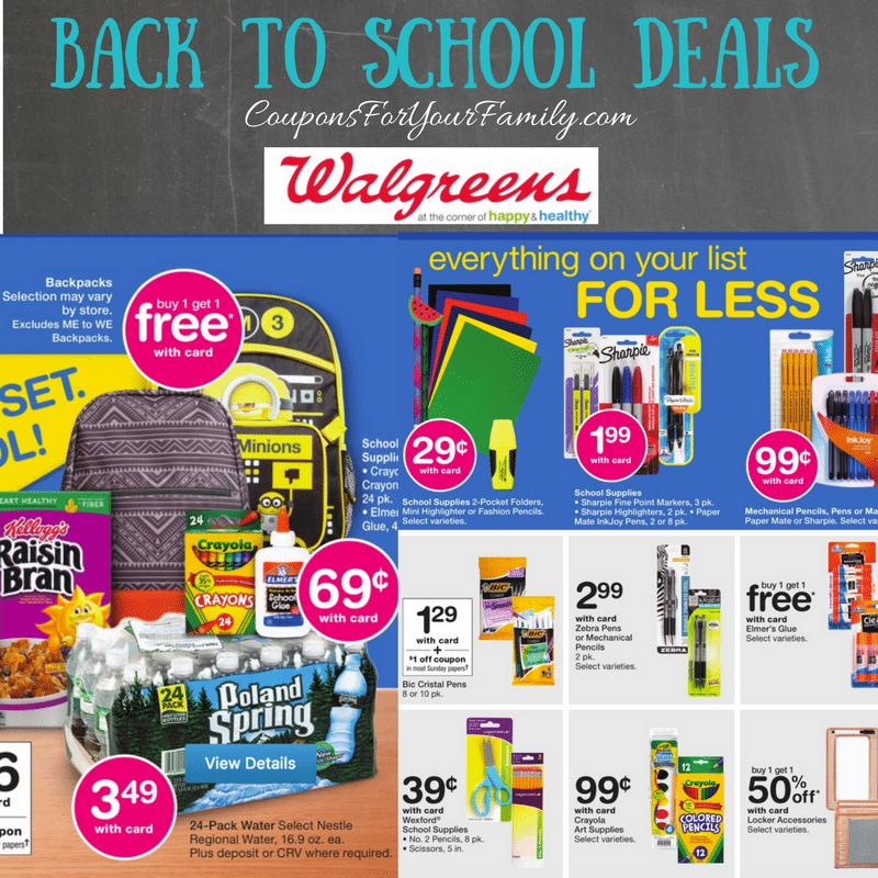 Walgreens Back to School Deals July 23
