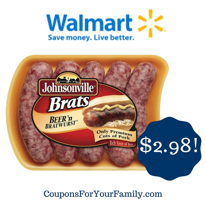 Walmart: Johnsonville Brats Only $2.98