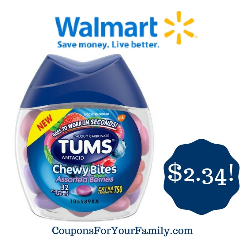 Walmart: Tums Chewy Bites Only $2.34