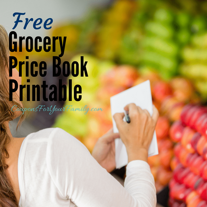 Grocery price book printable