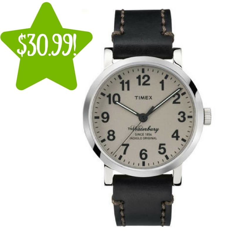 Sears: Timex Men's Waterbury Casual Watch Only $30.99 (Reg. $95, Today Only)