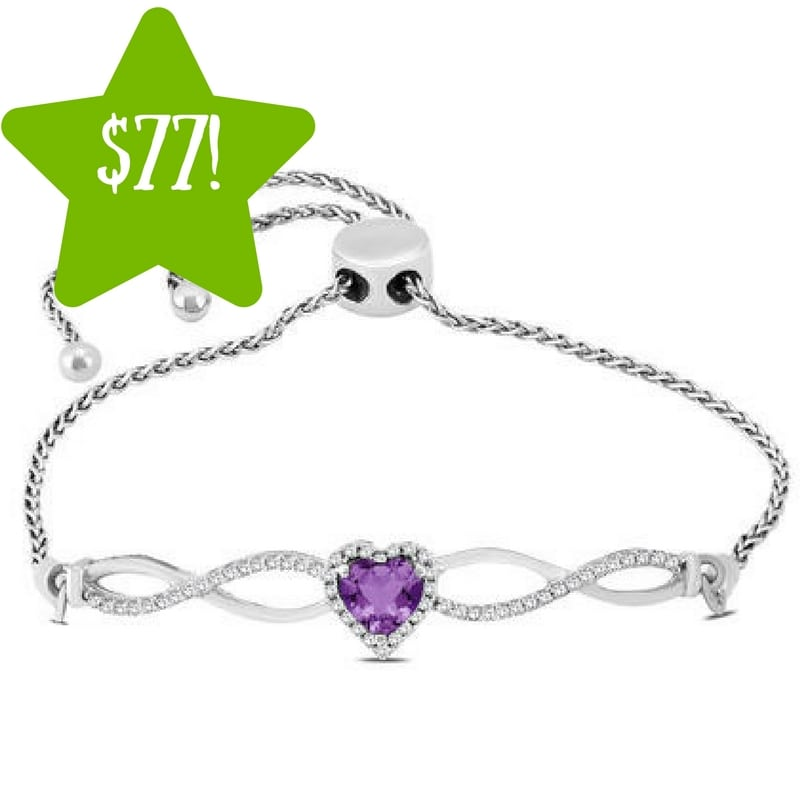 Kmart: Amethyst and Diamond Infinity Bolo Bracelet Only $77 Shipped (Reg. $399, Today Only)