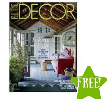 FREE Elle Decor Magazine Subscription