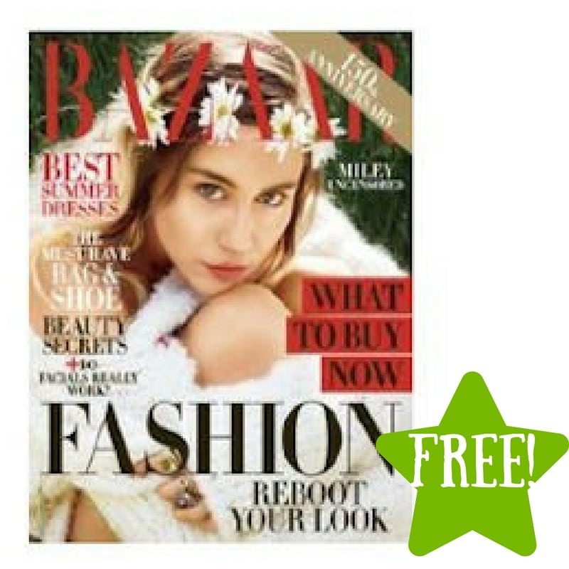 FREE Harper's Bazaar Magazine Subscription