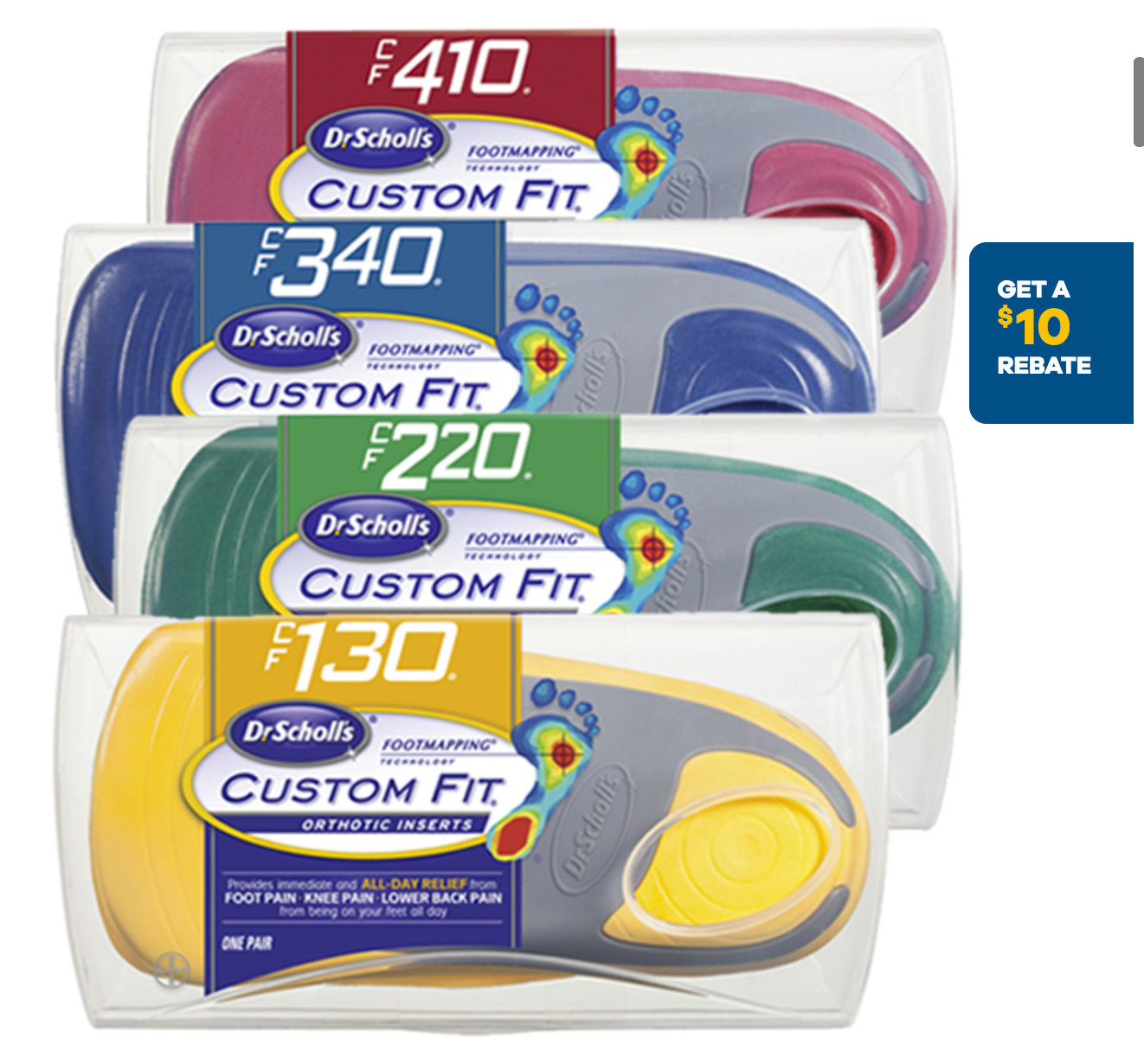 Get Dr Scholls Custom Fit Foot Inserts for only $29.96 {Reg $49.96} at Walmart!!