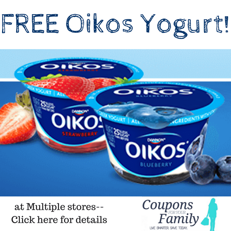 FREE Oikos Yogurt with new coupon at Tops, Wegmans, Giant Eagle, Price Chopper & more