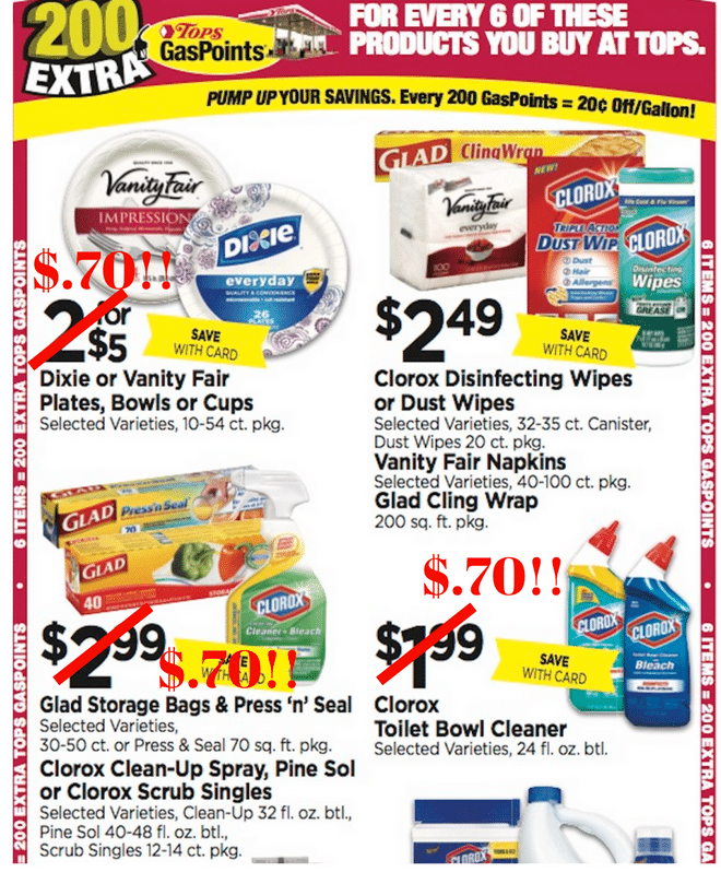 tops markets Household stockup deal