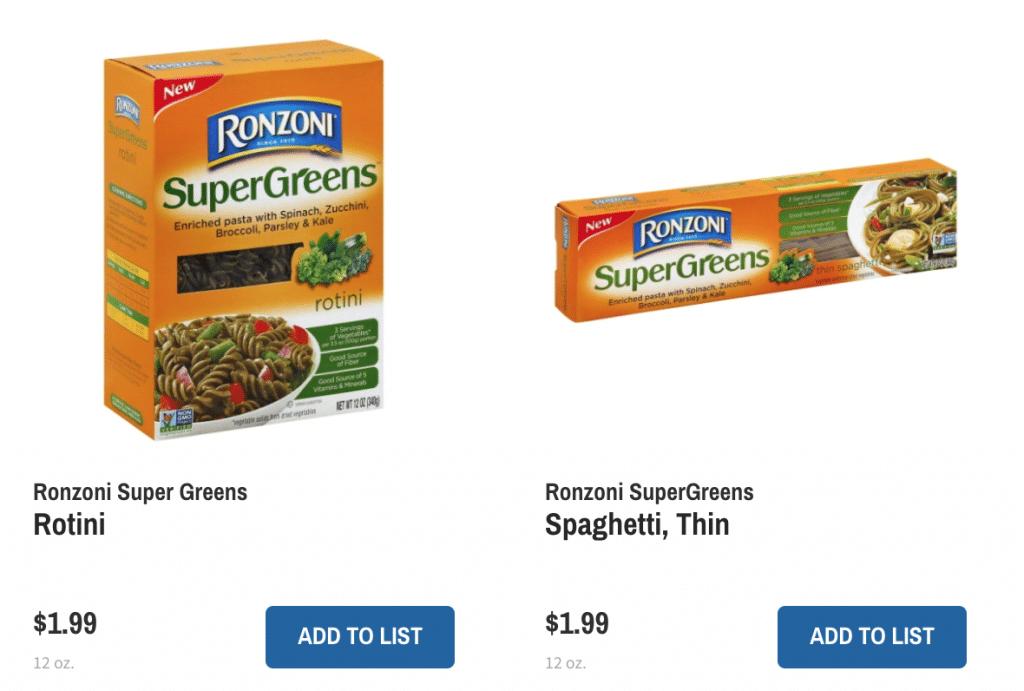 Ronzoni Supergreens Pasta
