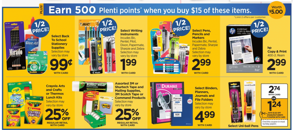 RiteAid Back to School Deals