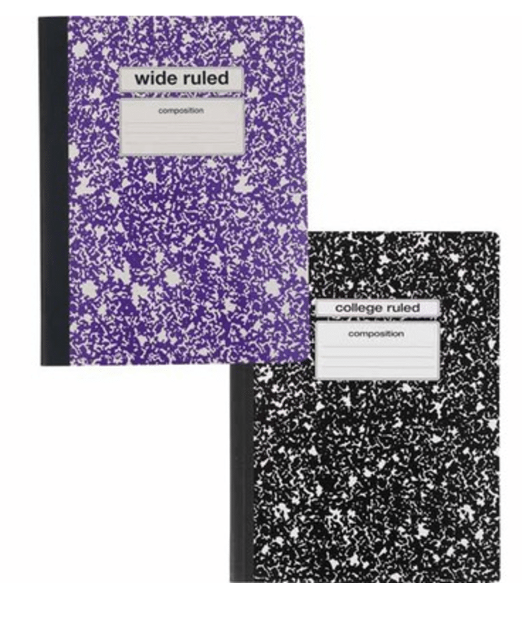 staples composition notebook