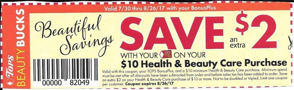 Tops HBC $2:$10 coupon