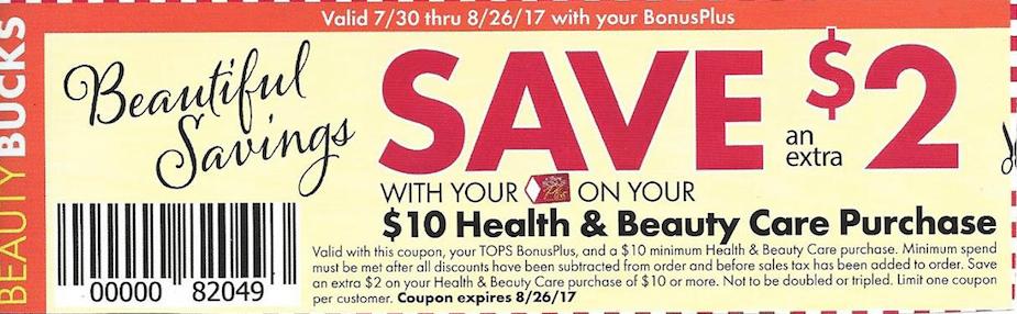 Tops HBC coupon