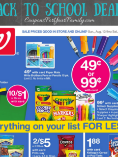 Walgreens Back to School Deals August 13