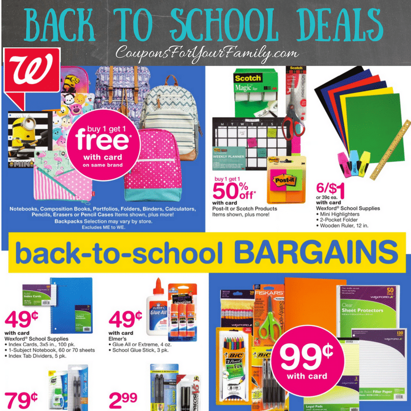 Walgreens Back to School Deals Aug 6-12: Free Mechanical Pencils, $.04 Pens plus $.17 Highlighters, Folders & Rulers and more!