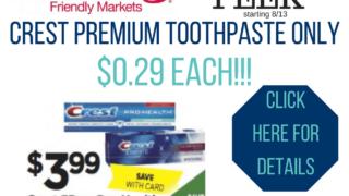 crest premium toothpaste
