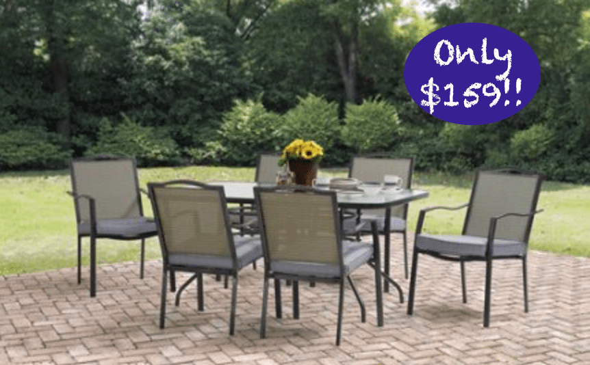 *HOT Walmart Rollback 8/12/17* Patio Dining Table & 6 Chair Set only $159!!
