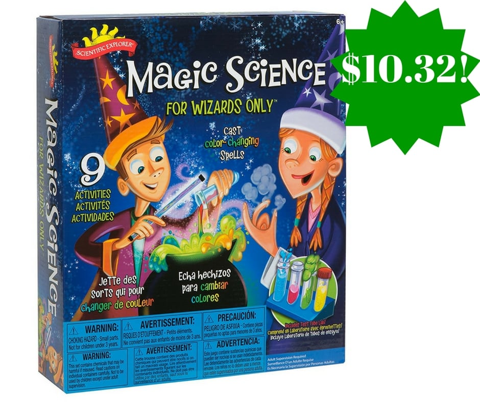 Amazon: Scientific Explorer Magic Science for Wizards Only Kit Only $10.32 (Reg. $24)