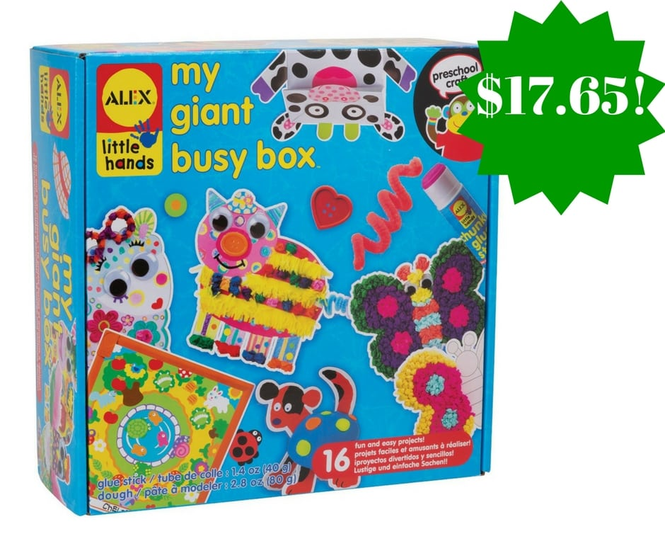 Amazon: ALEX Toys Little Hands My Giant Busy Box Only $17.65 (Reg. $44.50)
