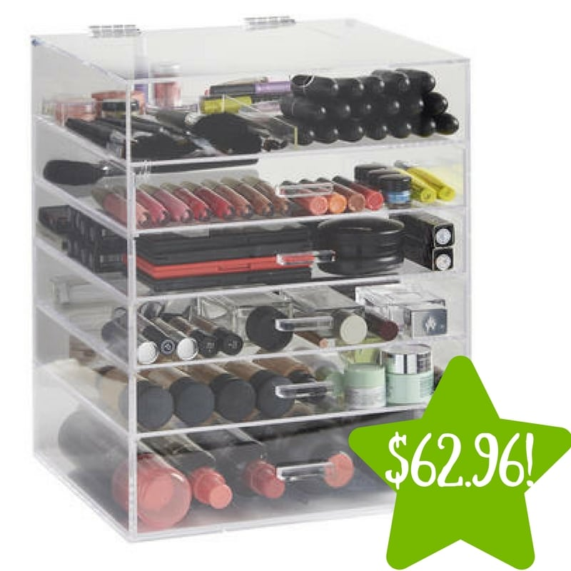 Sears: Beautify 6 Tier Clear Acrylic Makeup Organizer Only $62.96 (Reg. $140)