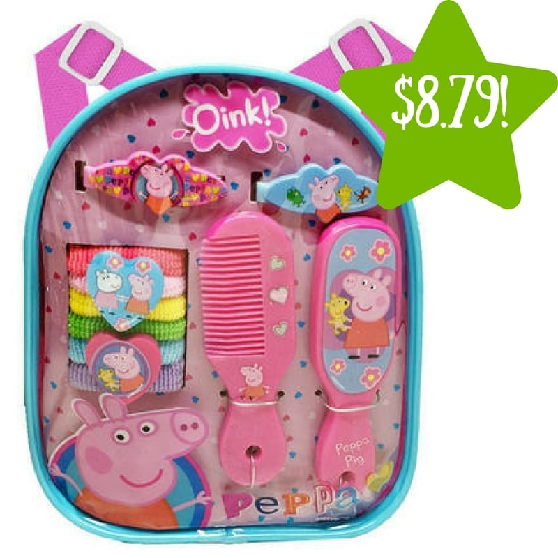 Sears: Peppa Pig Mini Backpack Hair Accessory 13 Piece Set Only $8.79 (Reg. $20)
