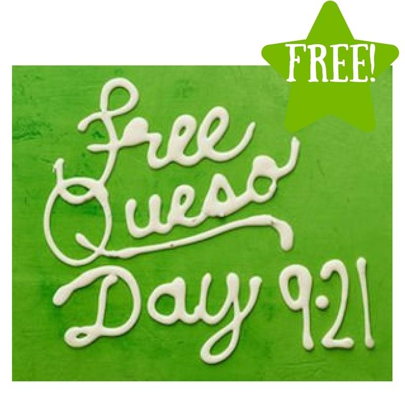 Moe's FREE Queso Day on 9/21 Only