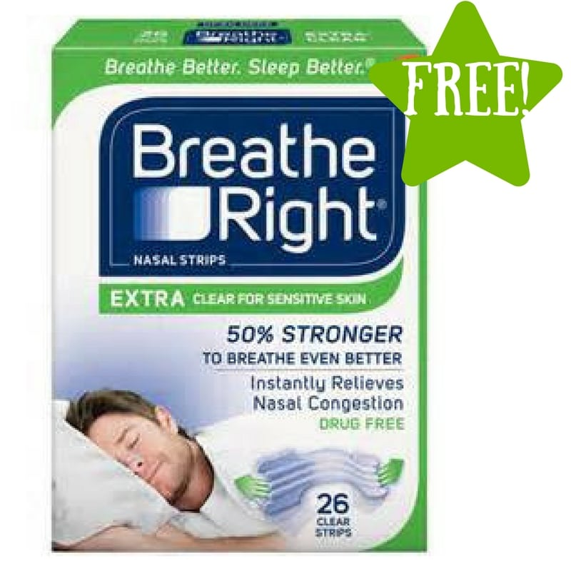 FREE Breathe Right Extra Clear Nasal Strips Sample